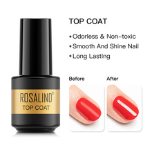 Top-Gel-Nail-Coat ROSALIND for Manicure Hybrid Varnishes Semi Permanent Protect Nail-Gel