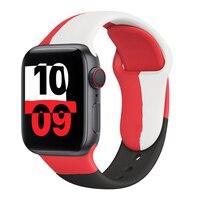 Cinturino in Silicone per cinturino Apple Watch 44mm 40mm 38mm 42mm nero unità/Prid smartwatch cinturino cinturino iWatch 6 se 5 4 3