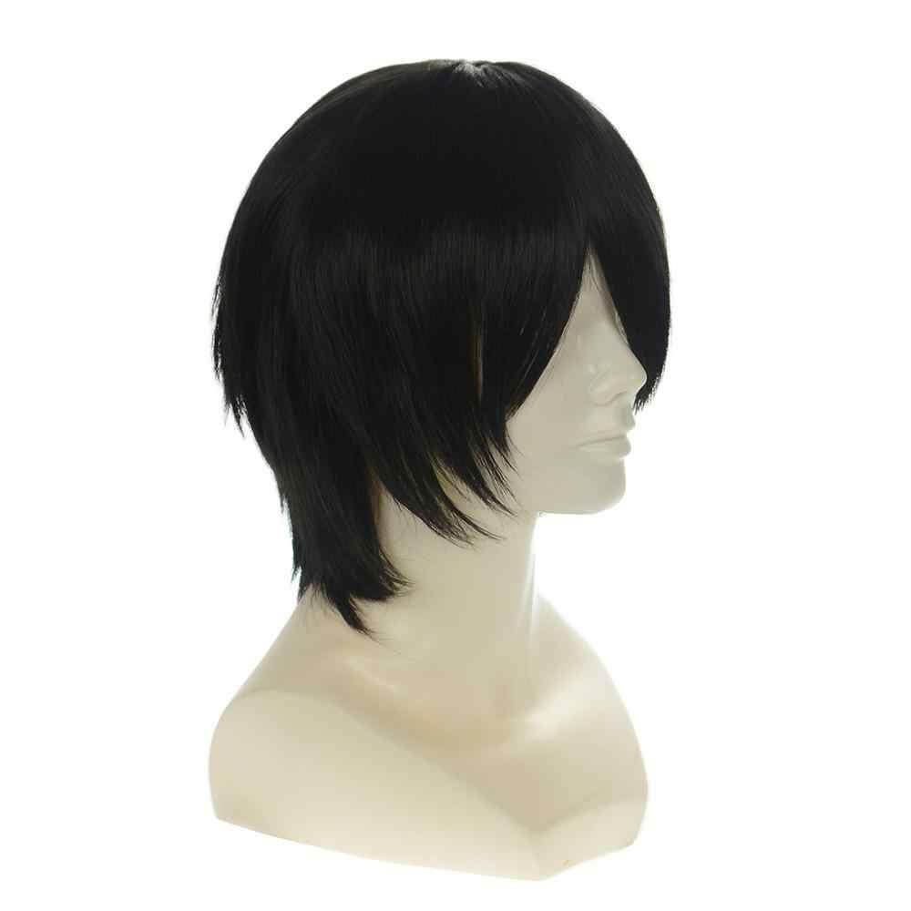 Anime code geass Lelouch CC wysokiej temperatury włókna mody syntetyczny grać peruka klasyczna peruka do cosplay + czapka z peruką