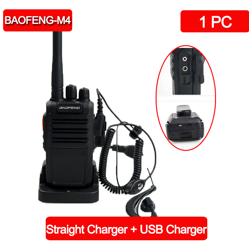 Baofeng BF-M4 Original Portable Walkie Talkie 5W 16CH UHF 400-470MHz Profession Walkie-talkies Two-way Radio Comunicador