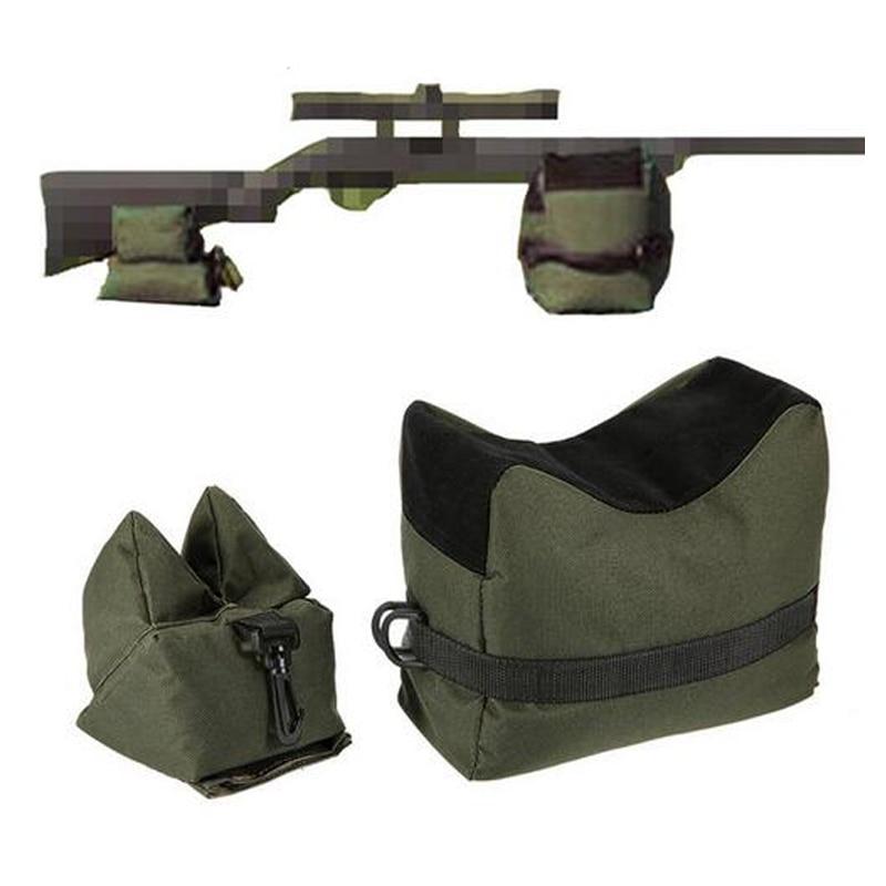 ด้านหน้าด้านหลังปืนไรเฟิลสนับสนุนทรายไม่มีทรายทหาร Sniper ยิงเป้าหมาย Stand อุปกรณ์ล่าสัตว์