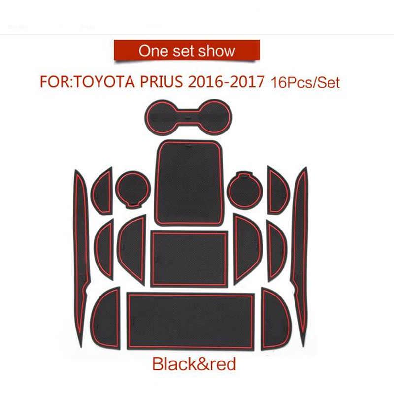 Tappetini Anti Scivolo Per Toyota Prius 50 XW50 2016 2017 Fessura del cancello Montagne Anti-sporco Porta Scanalatura Mat Interni Auto Gel pad Tappetino di Gomma