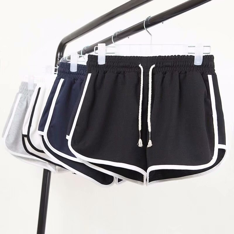 Summer Thin Korean Sports Shorts Female Three-point Running Loose Casual Ultra Shorts Hot Shorts Wear Beach Shorts