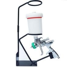 Gravity Feed Paint Spray Gun Holder Stand with Strainer Holder Wall or Bench Mount Detachable Air Spray Gun Holder Paint Bracket