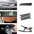Автомобильные аксессуары 6x100% Настоящее углеродное волокно переключения передач Полная рамка Крышка Накладка для BMW X3 F25 2015-2017