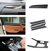 car accessories 6x 100% Real Carbon Fiber Gear Shift Full Frame Cover Trim For BMW X3 F25 2015 2017