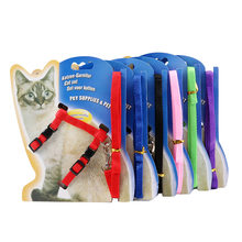 Pet Collar Harness Leash Set Adjustable Breakaway Nylon Pet Traction Dog Kitten Halter Collar Cats Products for Pet Harness Belt(China)