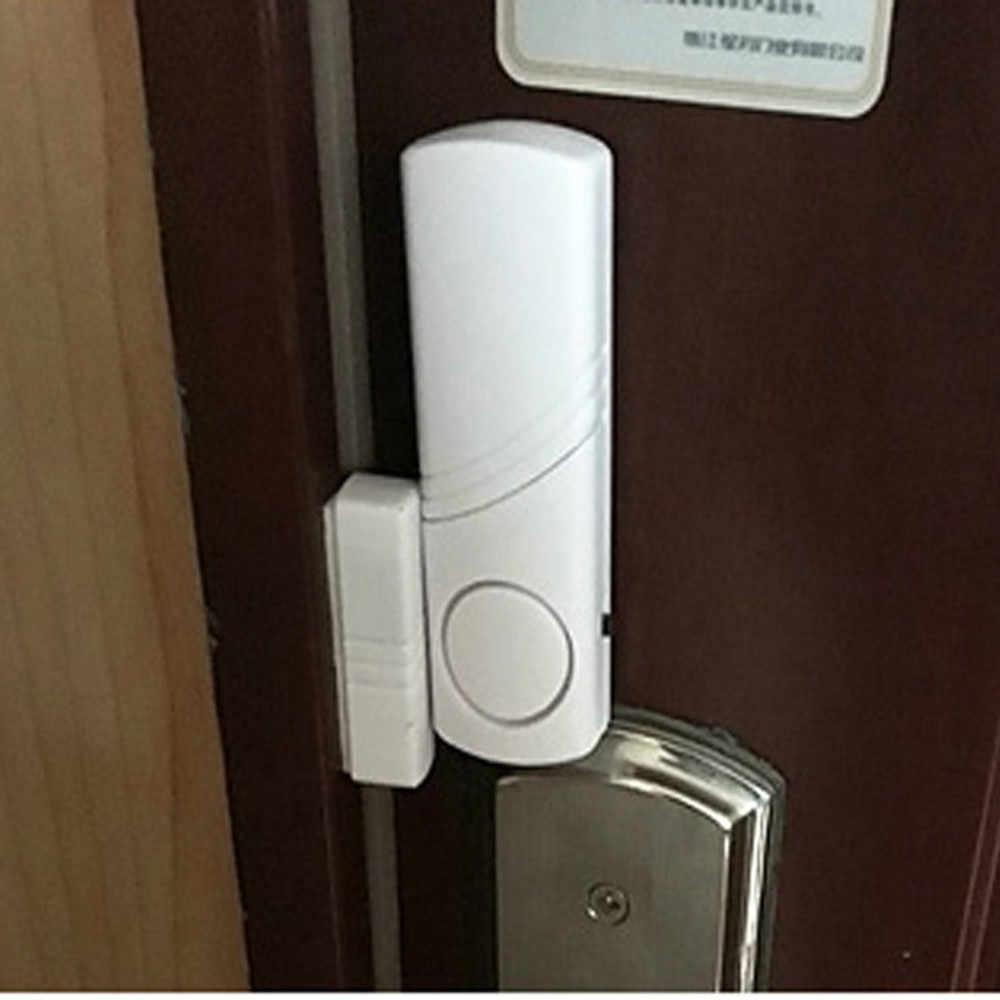 Alarmowego w domu bezprzewodowy pilot zdalnego sterowania okno czujnik 120dB drzwi antywłamaniowe czujnik alarmu baterii przełącznik magnetyczny system antykradzieżowy #5