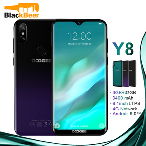 Image 1 - DOOGEE Y8 Y 8 Android 9.0 Cellphone FDD LTE 6.1 Inch Smartphone MTK6739 Quad Core 3GB RAM 32GB ROM 3400mAh Mobile Phone Face ID