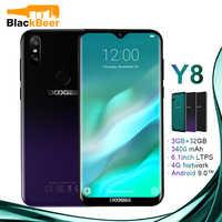 DOOGEE Y8 Y 8 Android 9,0 teléfono móvil FDD LTE Smartphone de 6,1 pulgadas MTK6739 Quad Core 3GB RAM 32GB ROM 3400mAh teléfono móvil Face ID