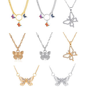 Maple 2000 Bohemian cute butterfly necklace pendant necklaces for women clavicle chain fashion necklaces female chocker jewelry