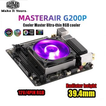 Cooler Master G200P Ultra-thin CPU Cooler M-ATX Mini case HTPC heatsink For Intel 115x AMD AM4 AM3 92mm RGB fan quiet