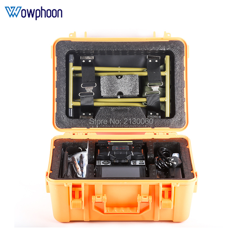 Free Shipping A-81S Orange Fully Automatic Fusion Splicer Machine Fiber Optic Fusion Splicer Fiber Optic Splicing Machine