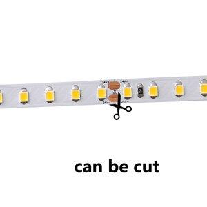 5V 12 V RGB Светодиодные полосы света 5m 2835 60LED/M теплый белый RGB 5 12 V светодиодные полосы света водонепроницаемая лента лампа LedStrips кухня