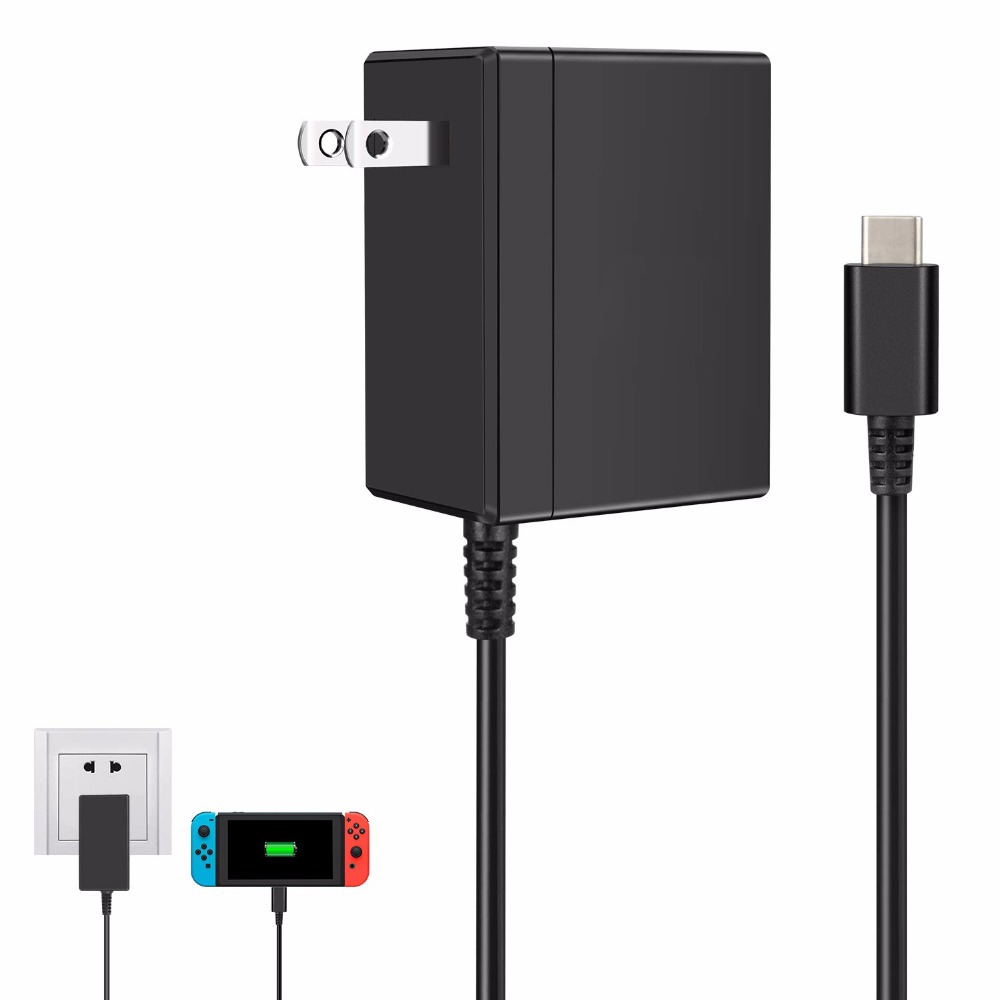 AC Adapter Charger Accessory For Nintend Switch NS Game Console EU US Plug Wall Charge Charging USB Type C Power