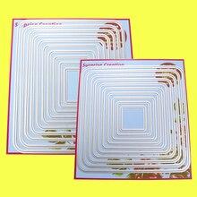 2 Set Große Schneiden stirbt Runde Ecke Rechteck & Platz Cardmaking Sammelalbum DIY Handwerk Überraschung Creation stirbt