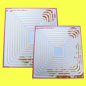 Image 1 - 2 Set Large Cutting dies Round Corner Rectangle & Square Cardmaking Scrapbook DIY Craft Surprise Creation dies