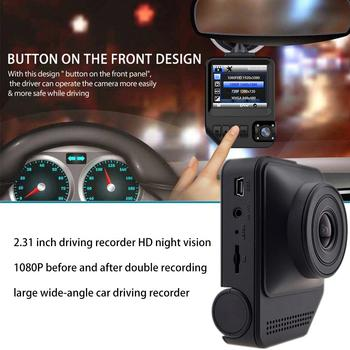 """2.31"""" TFT LCD Display Driving Recorder HD Night Vision Rear Front Double Recording G-Sensor 170 Degree Wide-angle DVR Dash Cam"""
