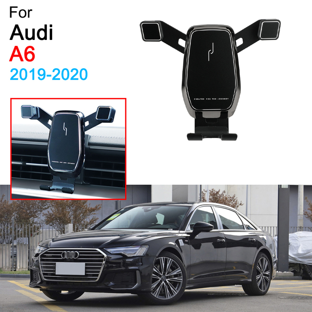 Car Phone Holder Air Vent Mount Clip Clamp Mobile Phone Holder for Audi A6 C8 Accessories 2019 2020