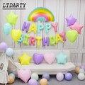 Макарон воздушный шар из фольги 16 дюймов днем рождения» письмо Макарон латекс сердце радужные фольгированные Детские воздушный шарик на де...