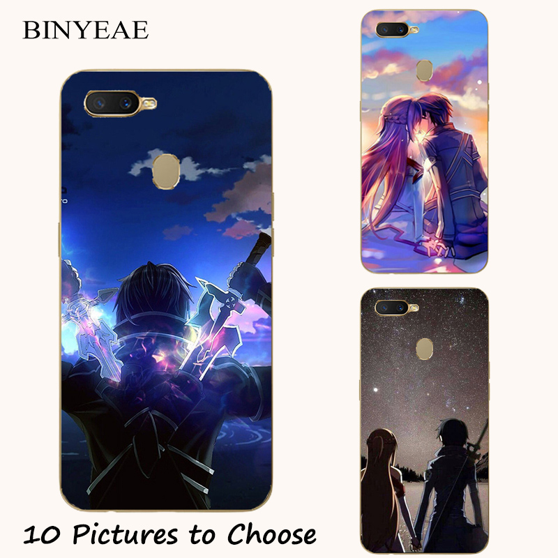 Sword Art Online SAO Anime Silicone Painting Case For <font><b>Oukitel</b></font> Mix 2 C8 C11 C12 C13 <font><b>C15</b></font> C16 C17 <font><b>Pro</b></font> Phone Printed <font><b>Cover</b></font> image