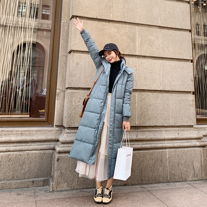 2019 Winter Jacket For Women X-long Hooded Cotton Padded Female Coat High Quality Warm Outwear Womens   Parka   Manteau Femme