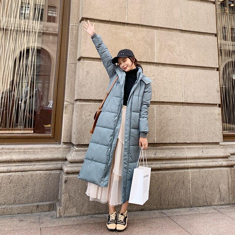 2019 veste d'hiver pour femmes x-long à capuche coton rembourré Femme Manteau de haute qualité vêtements d'extérieur chauds femmes Parka Manteau Femme