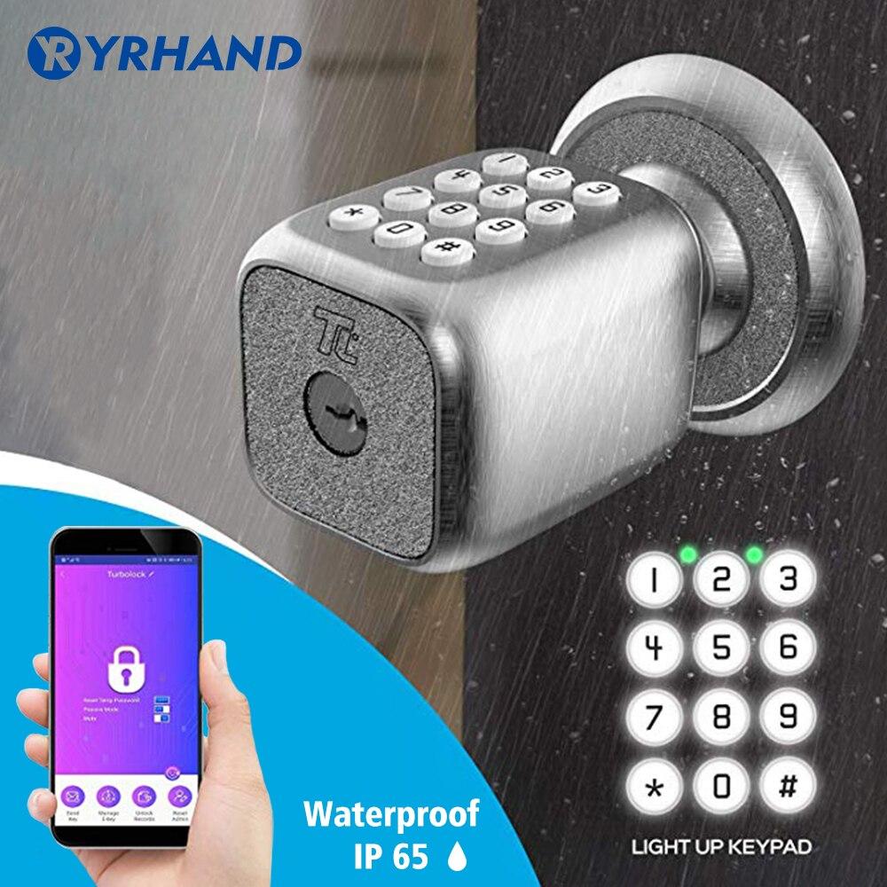 Electronic Smart Door Lock  Bluetooth Digital APP Keypad Code Keyless Door Lock  Password Electric Lock For Home Security
