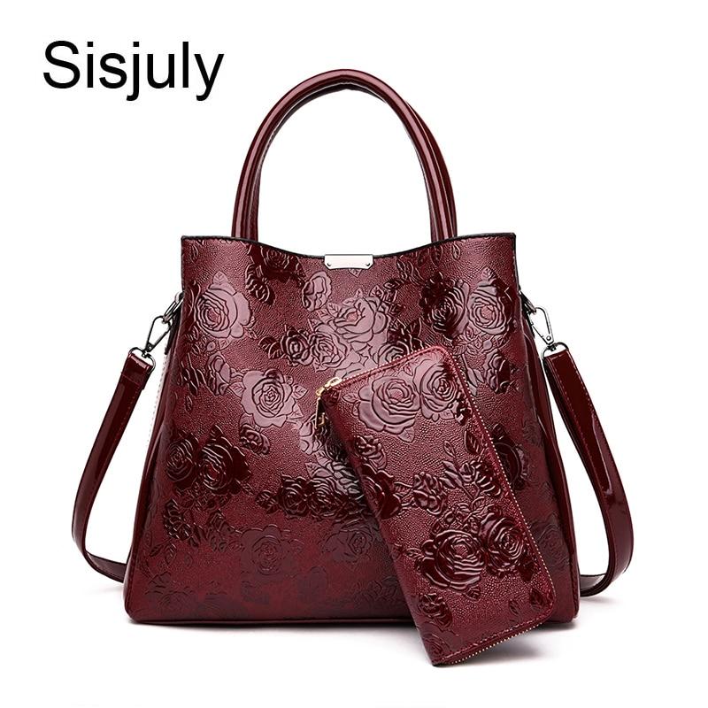 Luxury Embossed Flower Floral Handbag Women Bag Lady Leather Shoulder Bags Handbags Women Famous Brand Designer Tote+purse Bag