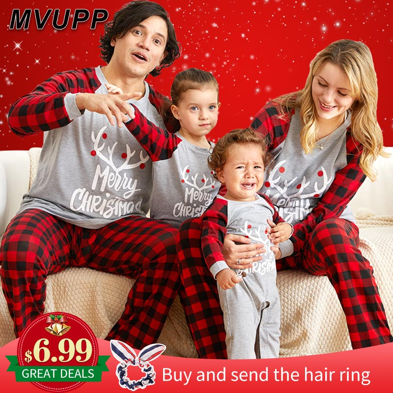 Рождественские пижамы для всей семьи, комплект для мамы, дочки, папы и сына, комбинезон, одежда для сна одинаковые комплекты для папы, мамы и меня одежда для мамы и ребенка