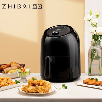 ZHIBAI Multifunction Air Fryer Black Chicken Oil free Air Fryer Health Fryer Pizza Cooker Smart Touch LCD Electric Deep Airfryer multifunction 12 l deep fryer electric commercial stainless steel potato chicken food deep frying machine zf