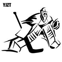 YJZT 18,9 см* 14,6 см вратарь хоккейный плеер Модный автомобиль-Стайлинг наклейки виниловые черные/серебряные C31-0323