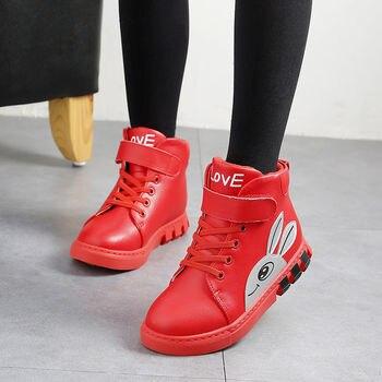 Kız çocuk Kısa çizmeler Karikatür Lastik çizmeler Deri Kaymaz Ayakkabı Kızlar Için Su Geçirmez Moda çocuk çizmeleri Boyutu 27-38