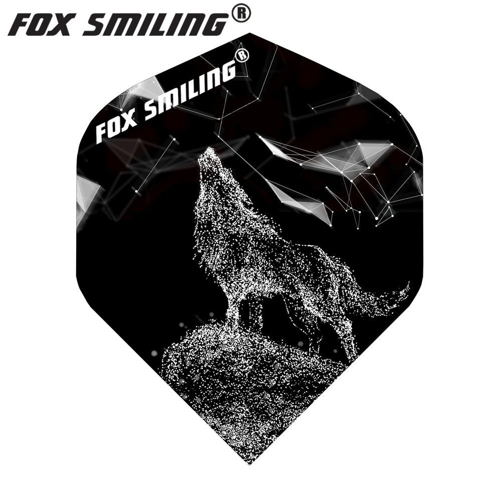Fox Smiling 30PCS Dart Flights Wolf Pattern PET Dart Accessories Dardos Feather Leaves