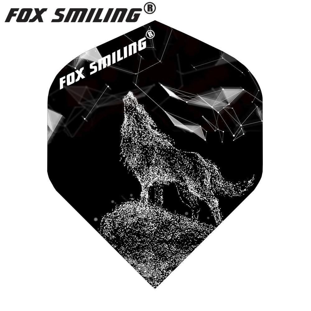 Fox Smiling 30PCS Dart Flights Wolf Pattern PET Dart Accessories Dardos Feather Leaves