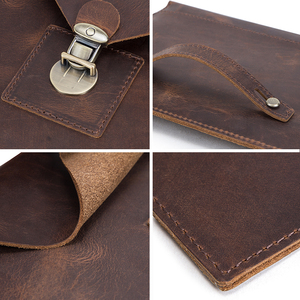 """Image 5 - Retro Genuine Leather Envelope Case For iPad Pro 10.5"""" Air 3 10.2"""" Bag For iPad Pro 11"""" 2020 sleeve case pouch with hand holder"""
