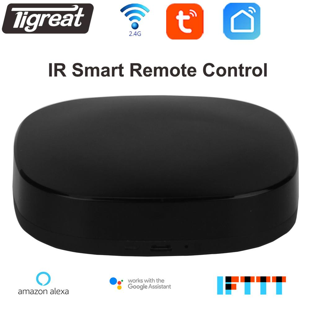Tigreat Wifi IR Remote Controller universal Learning smart home automation TV Air conditioner Fan Hub alexa compatible google