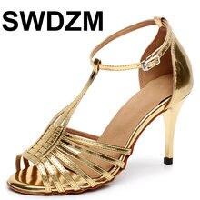 Женская обувь для латинских танцев swdzm танцевальная из искусственной