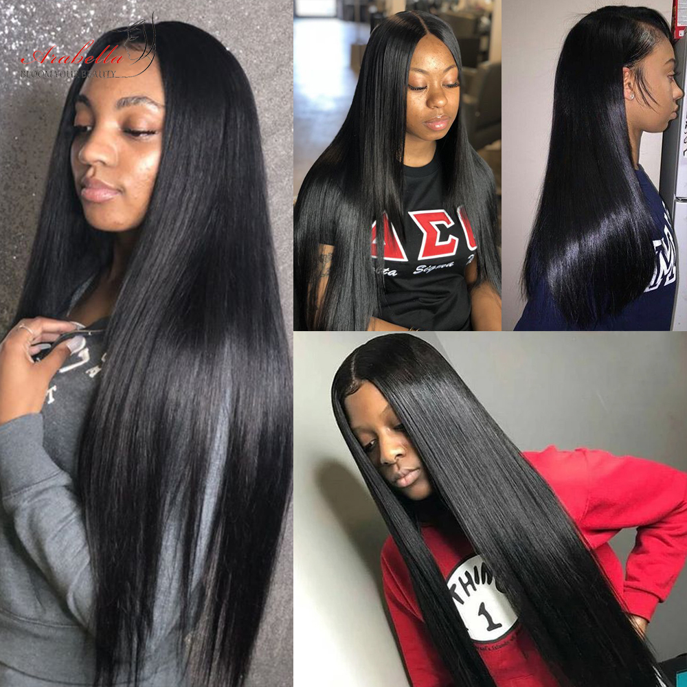 Straight Hair Lace Closure Wig With Baby Hair Pre Plucked Arabella  150 180 Density 4x4 Closure Wig  Wigs 5