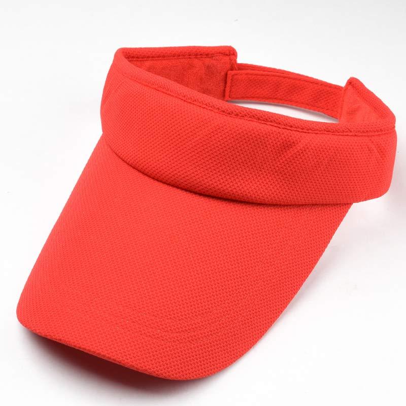 summer adjutable sun visor cap for women men solid plain running golf visor with terry sweatband orange red white pink black