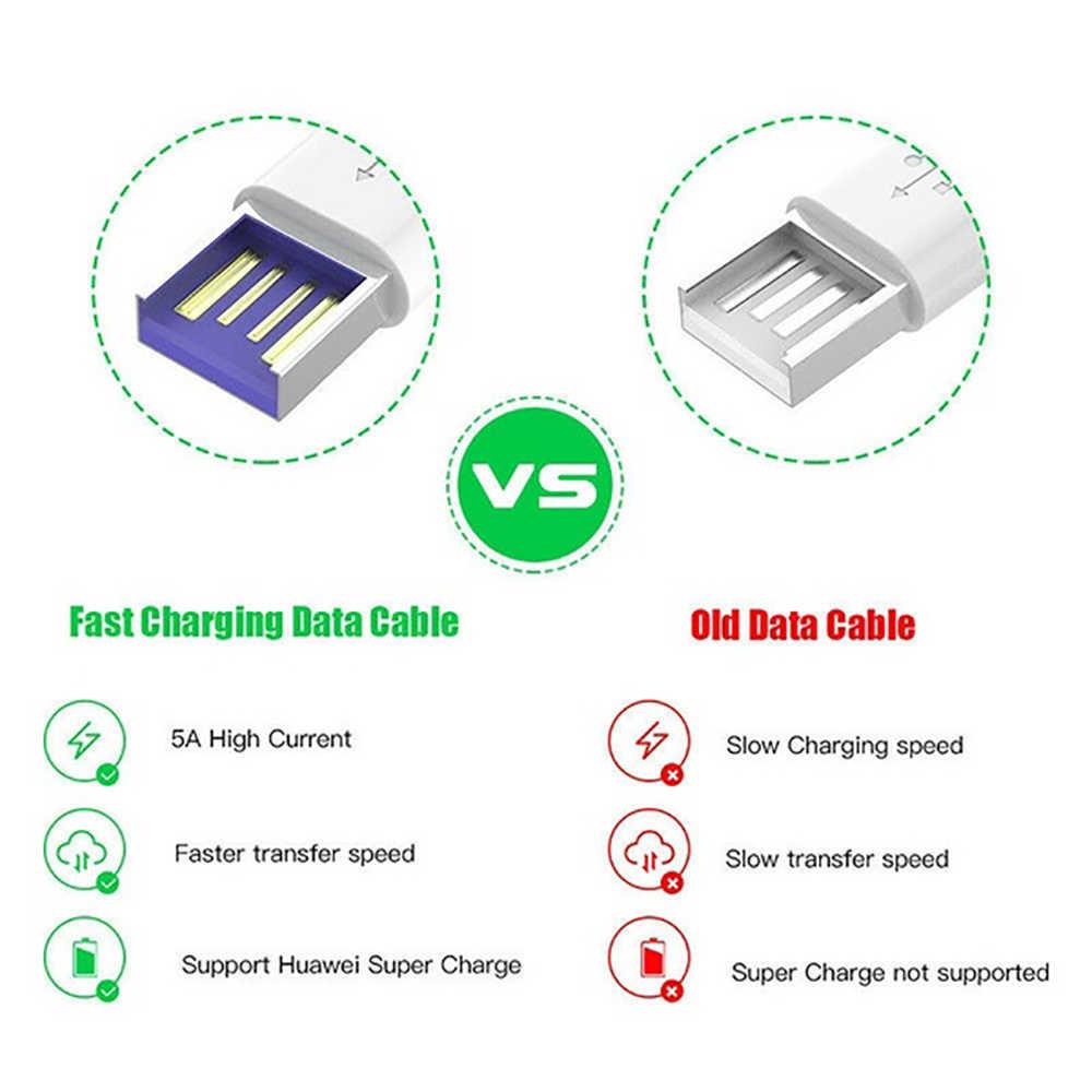 5A USB Type C สำหรับ Samsung S20 S9 S8 Xiaomi Huawei P30 Pro Fast ชาร์จโทรศัพท์มือถือชาร์จสายสีขาว