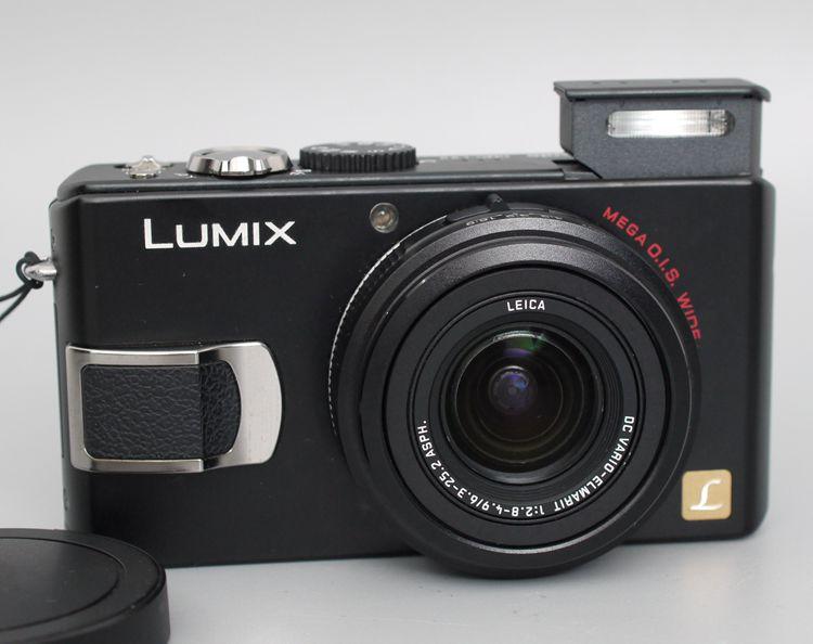 DMC-LX2 Panasonic usada, cámara Digital de 10,2 MP con Zoom estabilizado de imagen óptica 4x Relojes deportivos para exteriores SYNOKE, relojes de pulsera digitales para correr y escalar para hombres, reloj militar resistente a la alarma de impacto resistente al agua