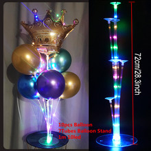 1Set 7 Tubes Balloon Stand Balloon Holder Column LED Balloons Decor Baby Shower Birthday Wedding Christmas Party Decorations