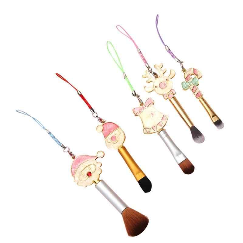 RUIMIO brosse cosmétique de noël mignon père noël Elk bonbons Style brosse Portable brosse cosmétique pour filles femmes cadeau de noël-1 #
