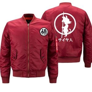 Image 4 - Mens Jacket Anime Dragon Ball Print Streetwear Coat Autumn Winter 2019 Thick Bomber Jackets Male Oversize S 8XL Military Jacket