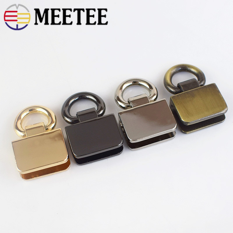 Metal Bag Side Clip Buckles Handbag Strap Clasp Screw Handles Chain Hook Connector Bag Hanger Hardware Accessories F1-9