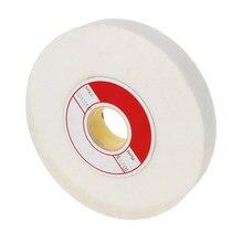 Utoolmart nouveau 46/60/80/100/120 grain blanc corindon meule 150mm x 25mm x 32mm disque abrasif pour meulage de Surface 1 pièces