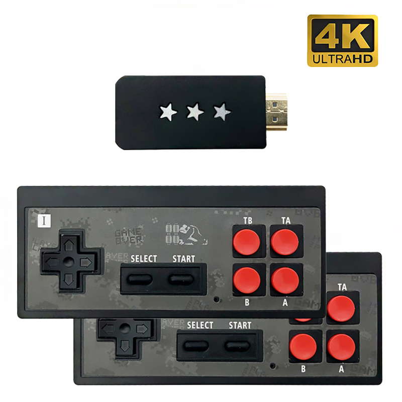 4K HDMI Video Game Console Built in 621 Classic Games Mini Retro Console Wireless Controller 4K Output Dual Handheld Game Player 1