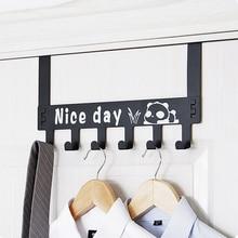 Splittable Nailless Seamless Door Hanging Hook Door Back Clothes Hook Coat Hook Creative Cartoon Wall Hanging Door Hanger недорого