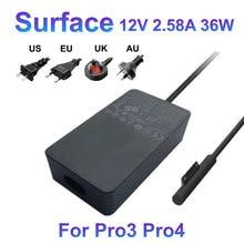 12V 2.58A Pour Microsoft Surface Pro3 Pro4 Adaptateur secteur 1625 1724 1631 36W Chargeur 5V 1A